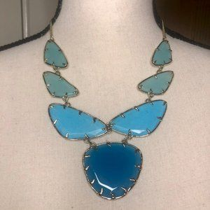 Kendra Scott Statement Necklace in Various Blues